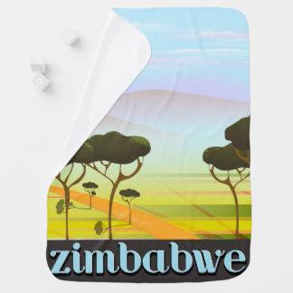 Mantita Para Bebé Poster del viaje del paisaje de Zimbabwe