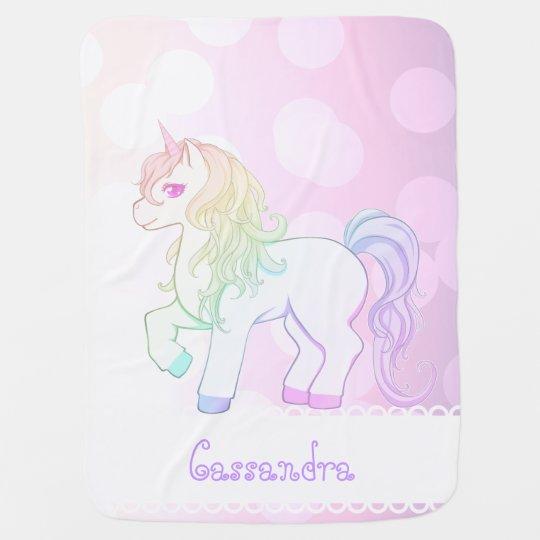 Mantita Para Bebé Potro coloreado arco iris lindo del unicornio del ...