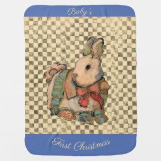 Mantita Para Bebé Primeros calcetines del conejito w del navidad del