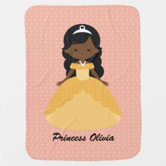 Mantita Para Bebé Princesa afroamericana linda estupenda