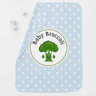 Mantita Para Bebé Puntos azules y blancos del bróculi verde de polca