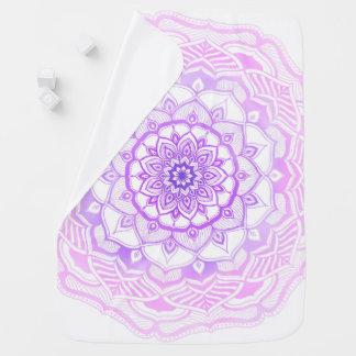 Mantita Para Bebé Púrpura dibujada mano bohemia del rosa de la