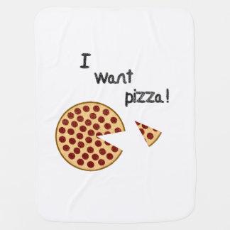 Mantita Para Bebé Quiero la pizza