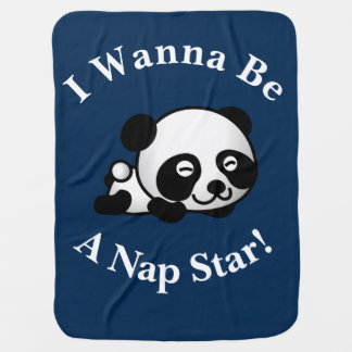 Mantita Para Bebé Quiero ser un diseño del oso de panda de