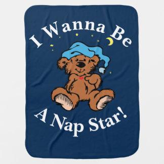 Mantita Para Bebé Quiero ser un diseño soñoliento del oso del tiempo