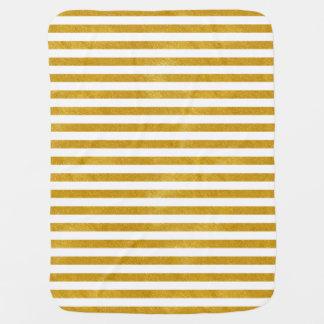 Mantita Para Bebé Raya elegante del oro - personalizado su color