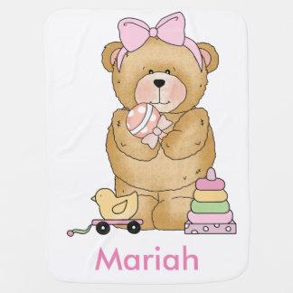 Mantita Para Bebé Regalos personalizados del oso del peluche de