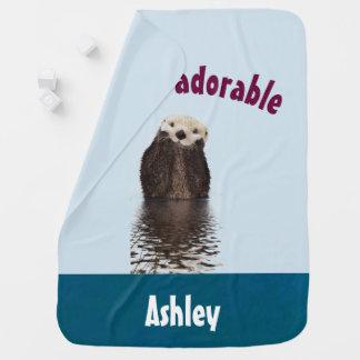 Mantita Para Bebé Retruécano divertido adorable de Otterly con la