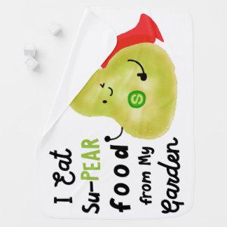 Mantita Para Bebé Retruécano positivo de la pera - comida de SuPear