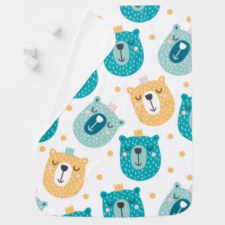 Mantita Para Bebé Rey lindo Baby Blanket del oso