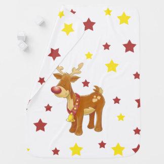 Mantita Para Bebé Rudolph las estrellas sospechadas rojas del
