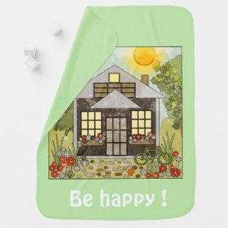 Mantita Para Bebé ¡Sea feliz! verde