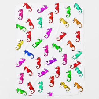 Mantita Para Bebé Seahorse lindo del dibujo animado