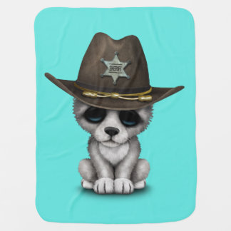 Mantita Para Bebé Sheriff lindo del lobo del bebé