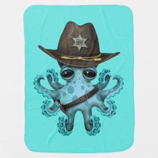 Mantita Para Bebé Sheriff lindo del pulpo del bebé azul
