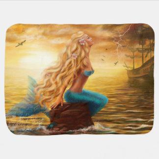 Mantita Para Bebé Sirena combinada