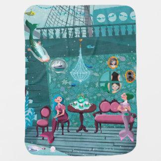 Mantita Para Bebé Sirenas felices en la fiesta del té del pulpo