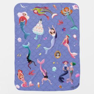Mantita Para Bebé Sirenas felices que juegan y que se divierten