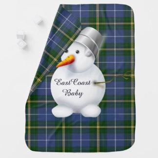 Mantita Para Bebé Tartán de Nueva Escocia del muñeco de nieve del