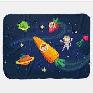 Mantita Para Bebé Tema vegetal del espacio