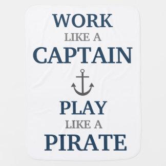 Mantita Para Bebé Trabajo como un capitán Nautical Nursery Baby
