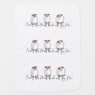 Mantita Para Bebé Tres ovejas de Cornualles de la mamá que alimentan
