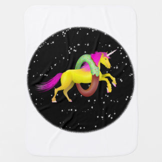 Mantita Para Bebé Unicornio que salta a través de un buñuelo