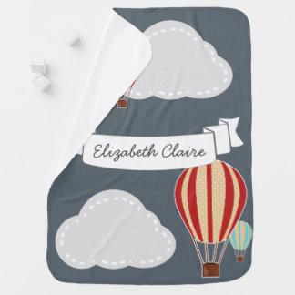 Mantita Para Bebé Viajero de los globos y de las nubes del aire