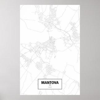 Mantova, Italia (negro en blanco) Póster