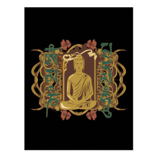 Mantra de Buda del vintage Postal
