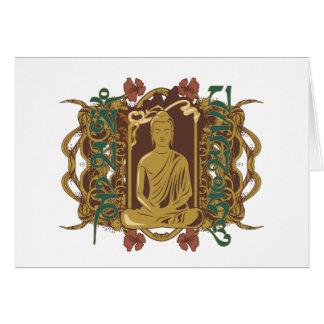 Mantra de Buda del vintage Tarjeton