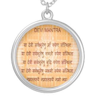 Mantra de DEVI - Hinduism antiguo del Hindi de Colgante Redondo