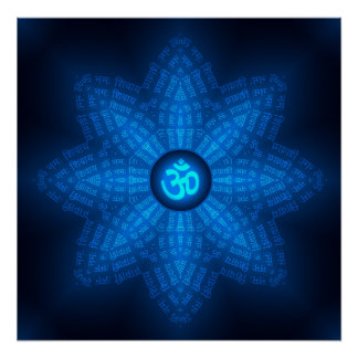 Mantra espiritual de OM Poster