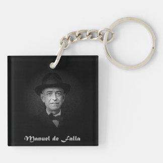 Manuel de Falla. Llavero Cuadrado Acrílico A Doble Cara