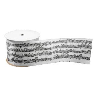 Manuscrito de la música de la habitación del lazo de raso