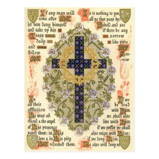 Manuscrito iluminado para la septuagésima y presta postales