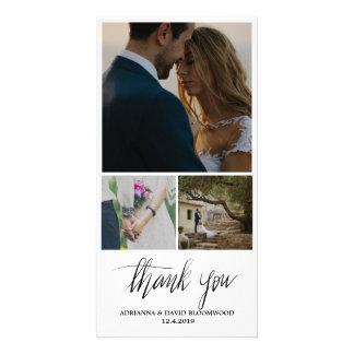 Manuscritos caprichosos le agradecen el boda tres tarjeta