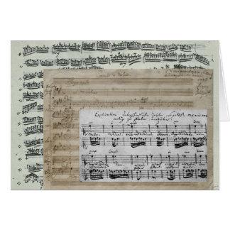 Manuscritos de la música tarjeta