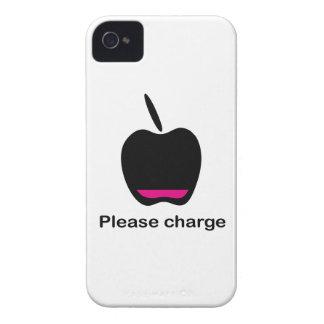 Manzana acumulador vacío funda para iPhone 4