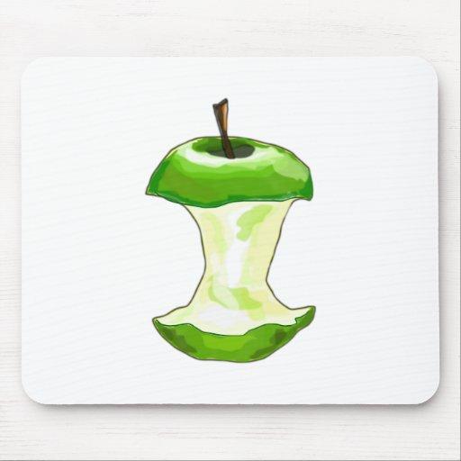 Manzana carcasa de manzana Apfelbutzen core apple Alfombrillas De Ratón