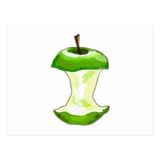 Manzana carcasa de manzana Apfelbutzen core apple Tarjeta Postal