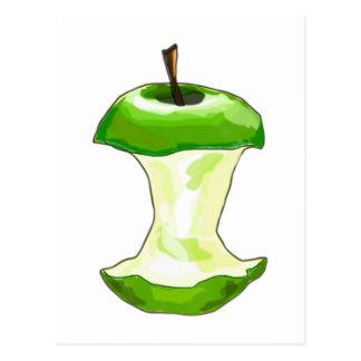 Manzana carcasa de manzana Apfelbutzen core apple Postales