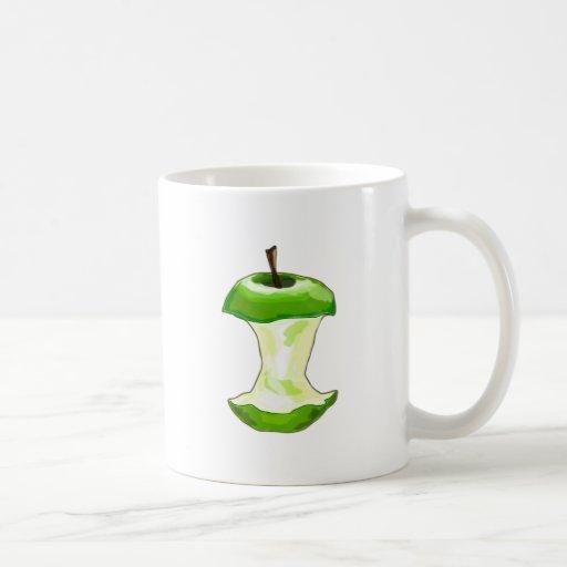 Manzana carcasa de manzana Apfelbutzen core apple Taza De Café