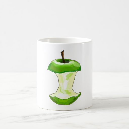 Manzana carcasa de manzana Apfelbutzen core apple Taza