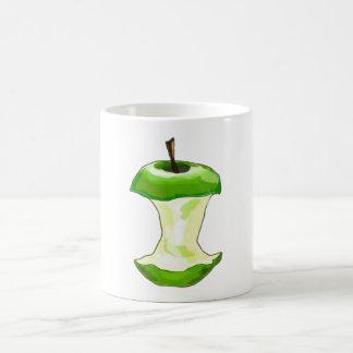Manzana carcasa de manzana Apfelbutzen core apple Taza Básica Blanca