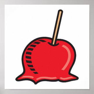 manzana de caramelo póster