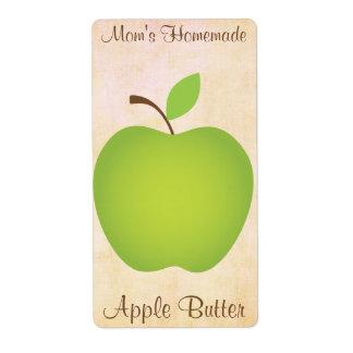 Manzana Mantequilla-Verde hecha en casa de Apple Etiqueta De Envío
