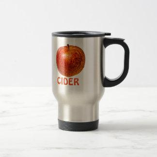 Manzana roja taza de viaje