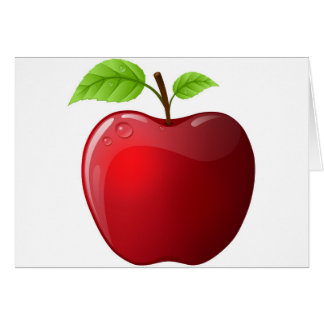 manzana tarjeta de felicitación