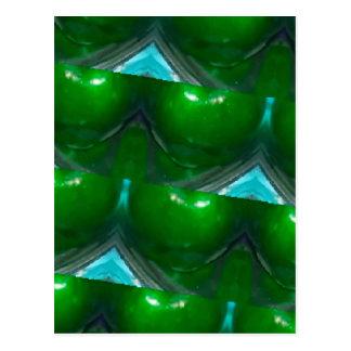 manzana verde del caleidoscopio postal